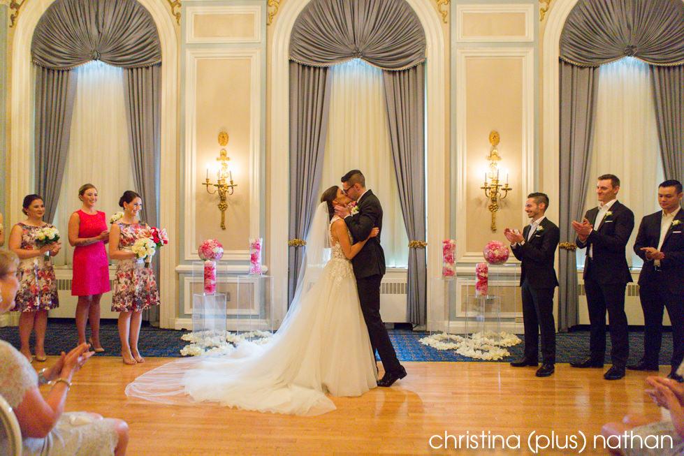 First Kiss Hotel Wedding