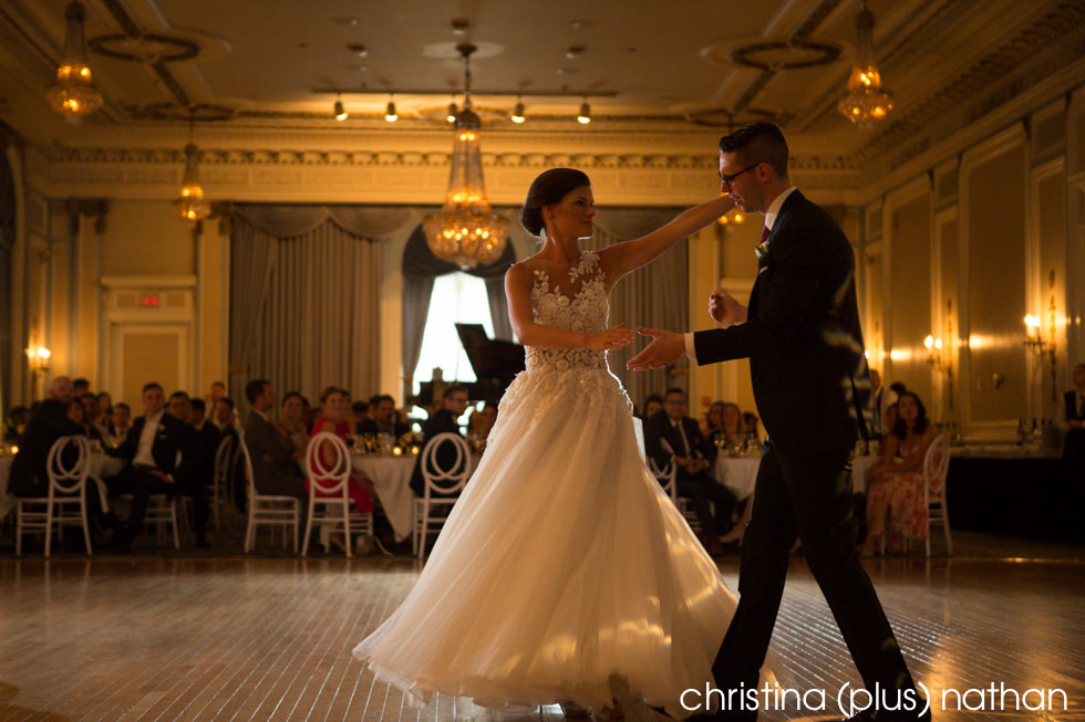 Crystal Ballroom wedding reception dance photo
