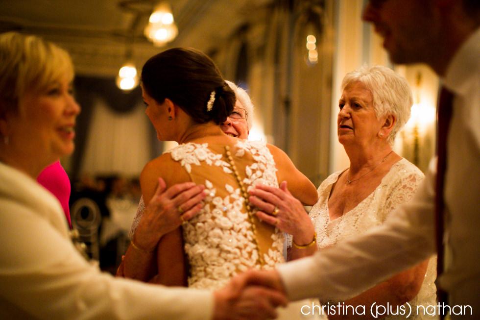 Reception wedding candid moment hug