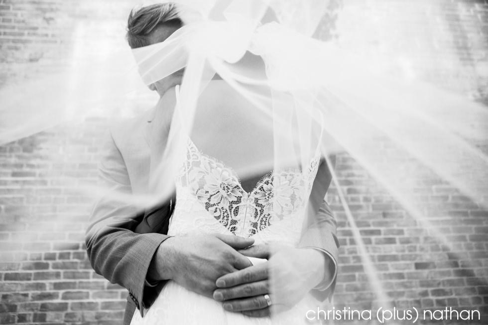 Calgary wedding Veil Black and White Photographers