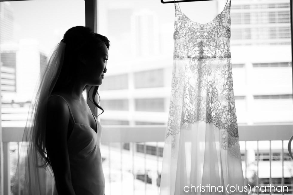 Pearl Dot Wedding Dress Calgary