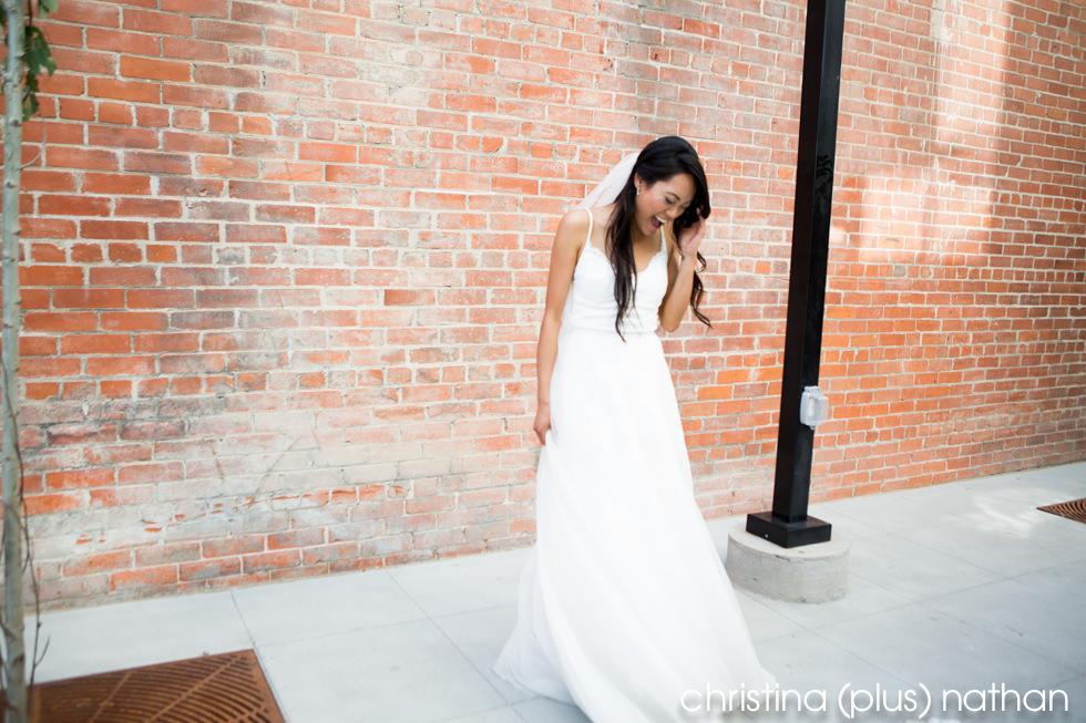 Laughing Bride Calgary wedding Photographers