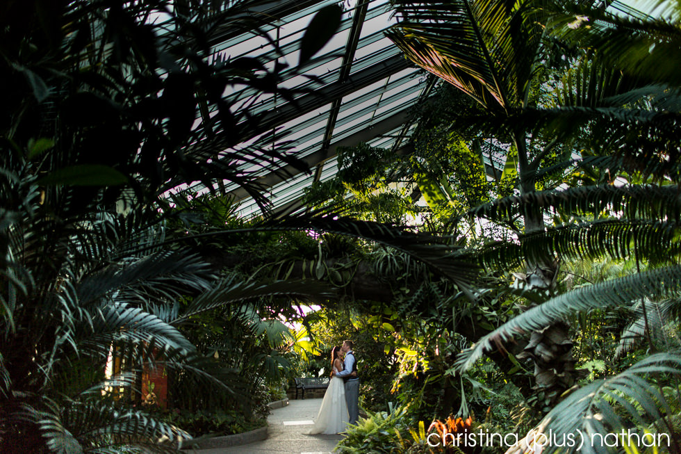 Inside the Zoo Conservatory Wedding Photography