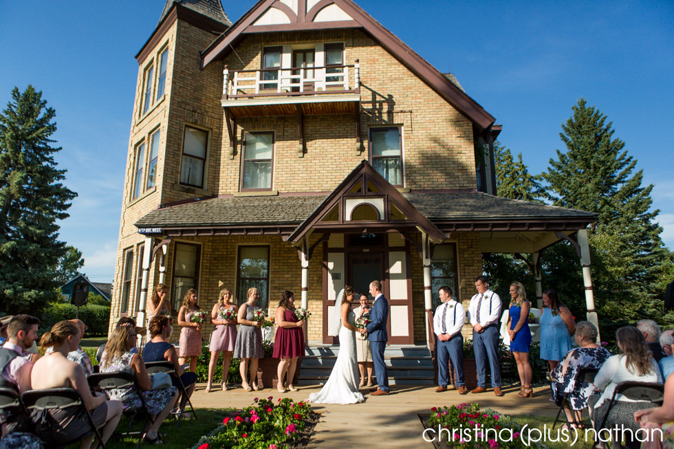 Wedding ceremony at Prince House in Calgary's Heritage Park