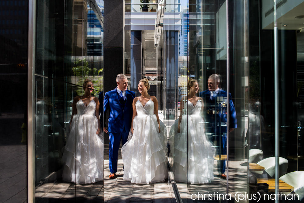 Wedding portrait in downtown Calgary by christina (plus) nathan