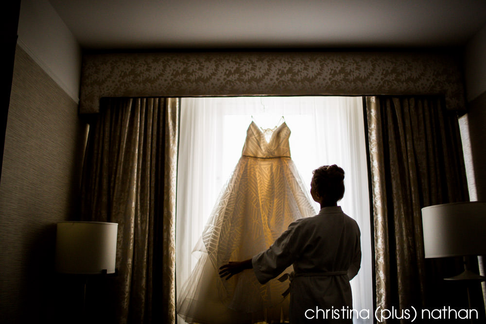 bride prepares for her Bow Valley Ranche wedding