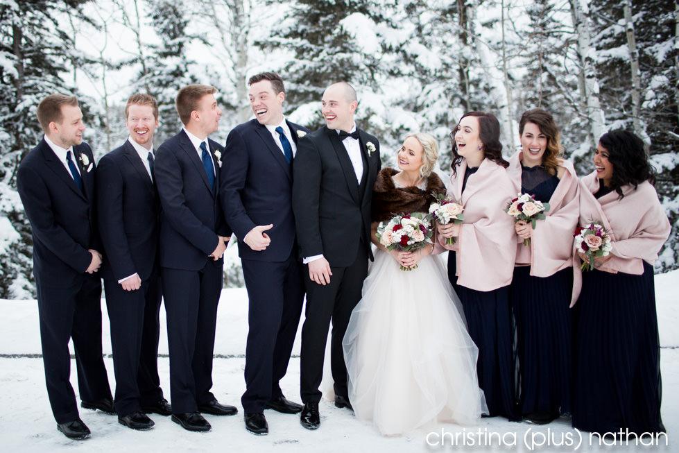 Winter wedding photography azuridge