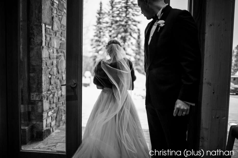 Candid winter wedding photography