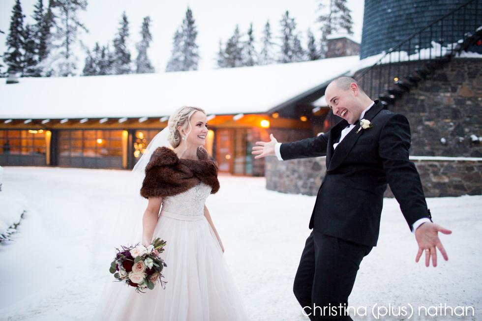 Fun wedding photo in Calgary
