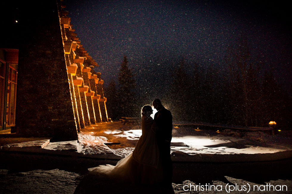 Winter wedding photo at Azuridge Estate Hotel wedding venue