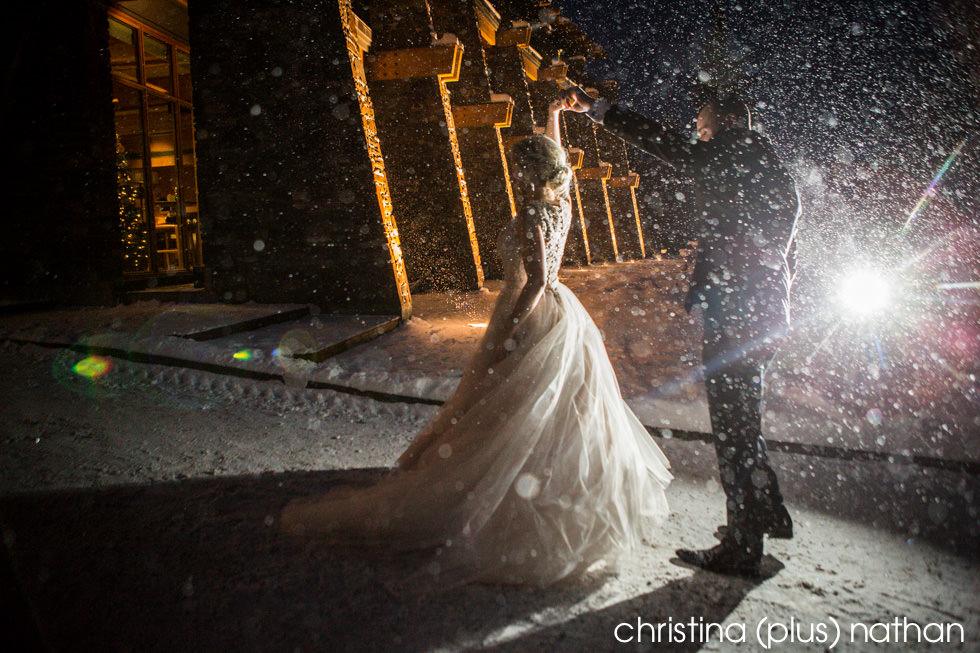 Snowy Wedding Photography Winter Calgary