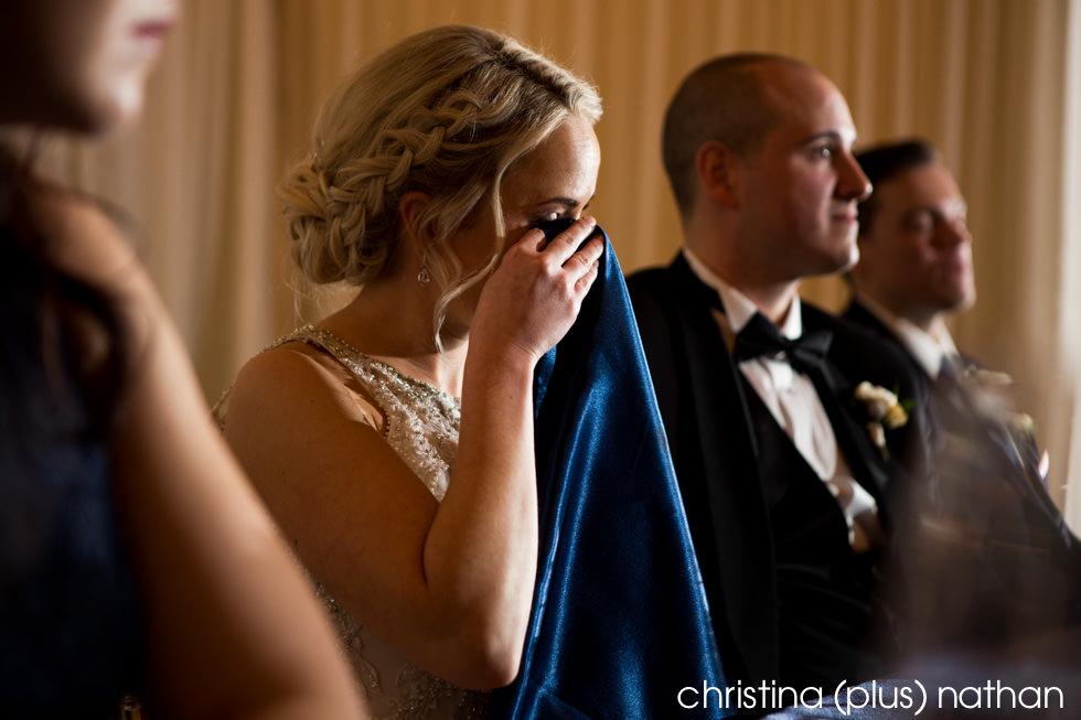 Emotional Bride Candid photo Calgary Wedding