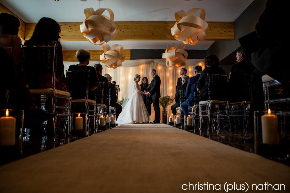 Azuridge Estate Hotel winter wedding indoor ceremony