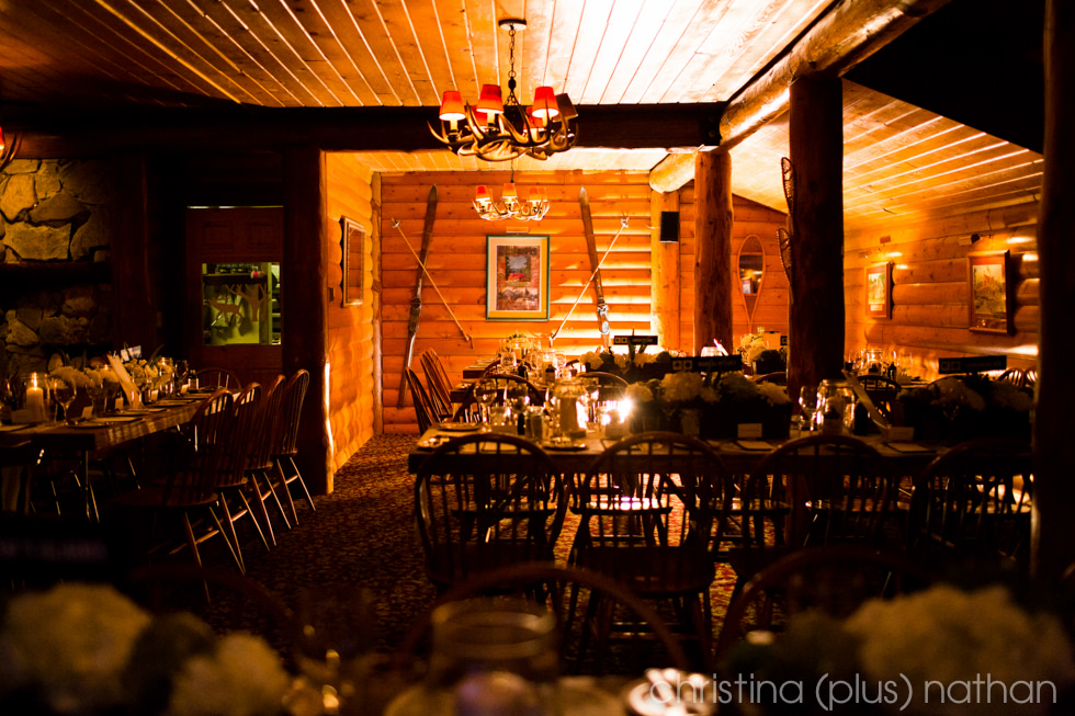 Baker Creek Winter Wedding Reception