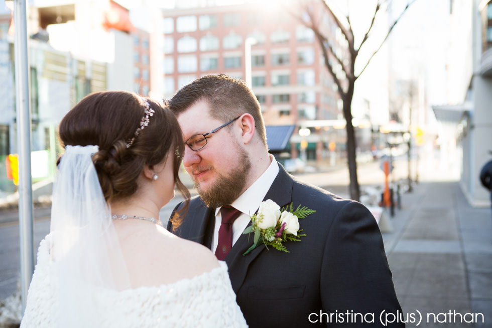Urban wedding photography in Calgary