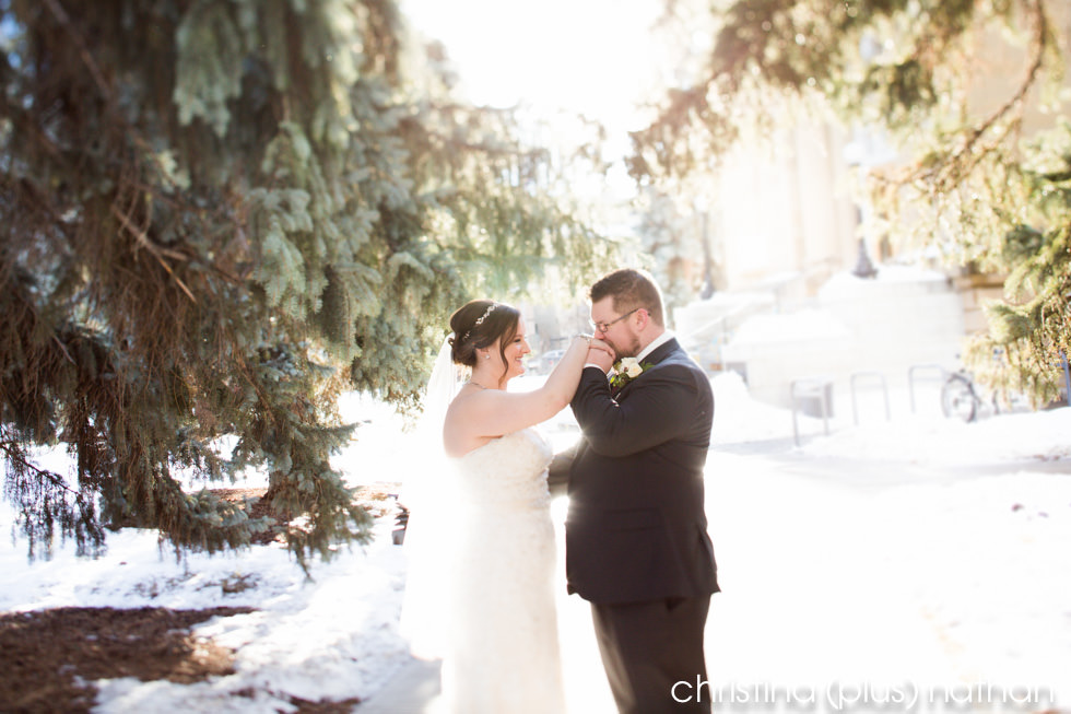 Wedding photography in Calgary Central Memorial Park