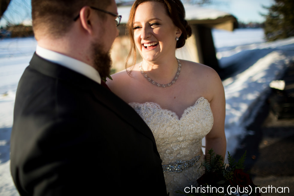 Winter wedding Lake Bonavista The Lake House Calgary