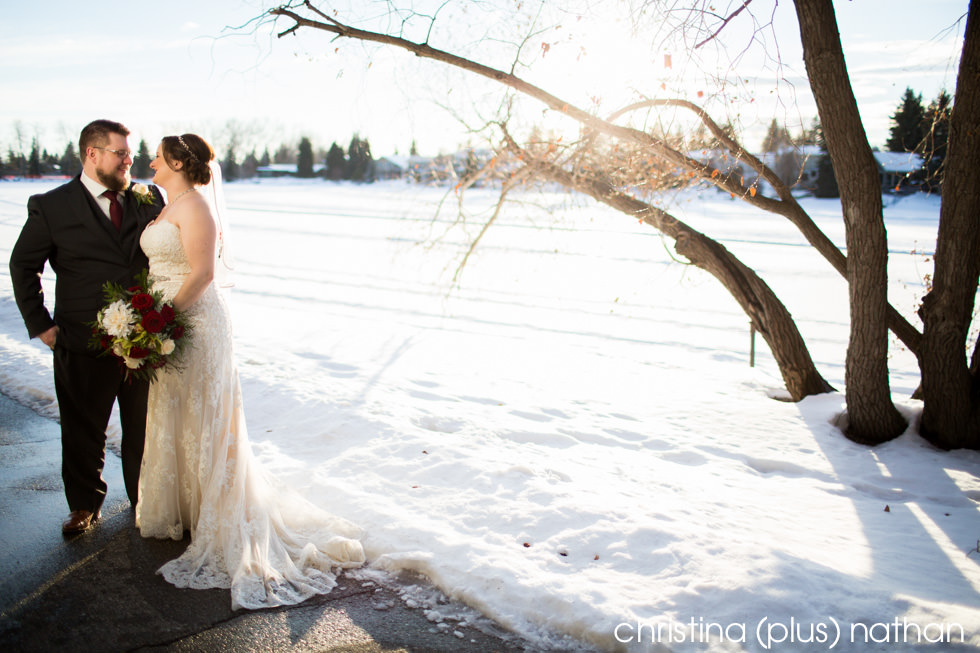 The Lake House winter wedding