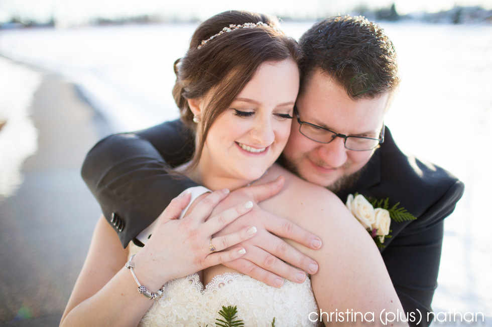 Winter wedding photography at the Lake House