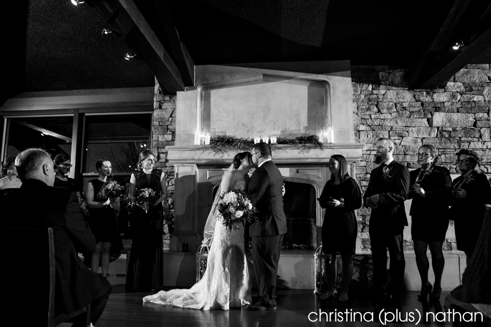 Calgary wedding photographers The Lake House restaurant weddings