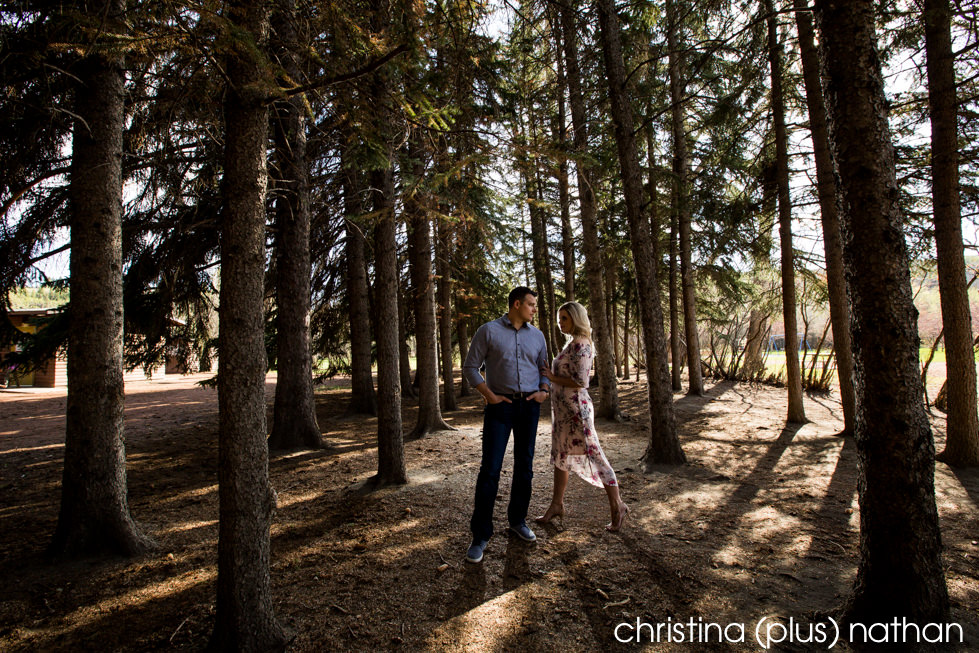 Edworthy Park engagement photograph shot by Calgary wedding photographers christina (plus) nathan photography