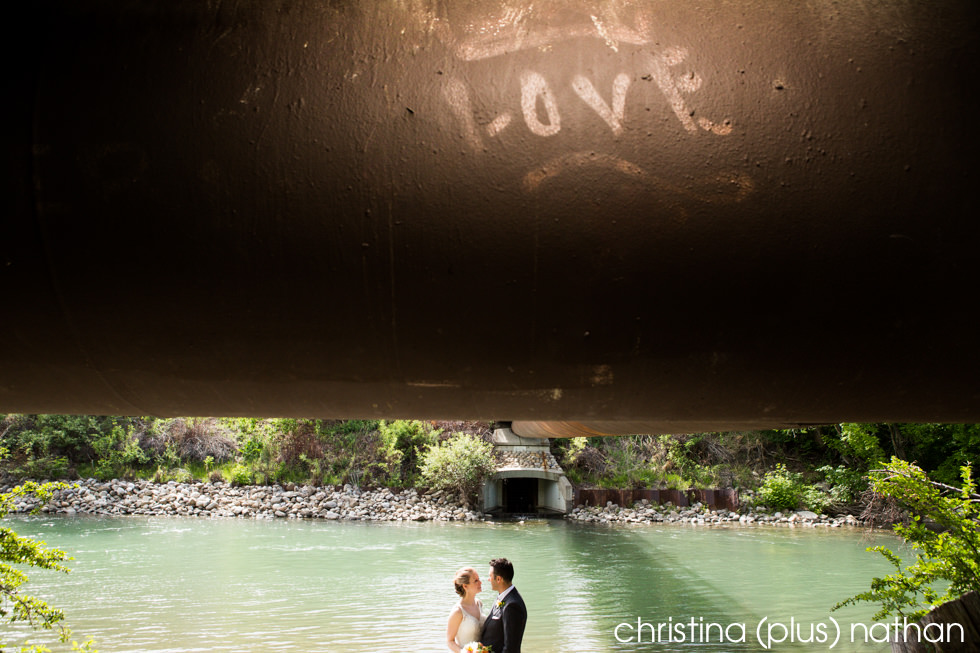 Creative wedding photograph in Calgary's Lindsay Park shot by christina (plus) nathan