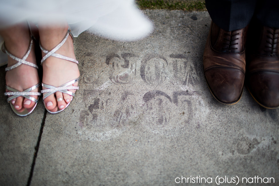 Creative wedding portrait by Calgary wedding photographers christina (plus) nathan photography