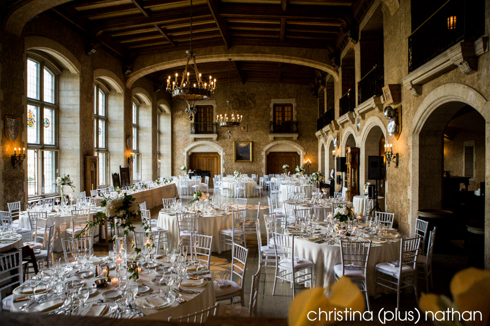 Fairmont Banff Springs Hotel, Mt. Stephen Hall decorated for a wedding reception